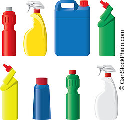 mosópor, állhatatos, palack, műanyag