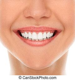 mosoly, fogász