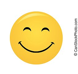 mosoly, modern, nevető, sárga, boldog