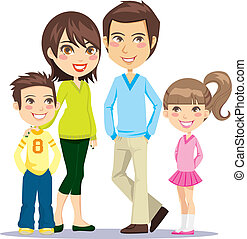 mosolygós, család, boldog