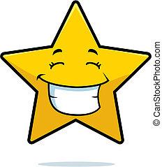 mosolygós, csillag