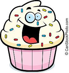 mosolygós, cupcake