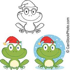 mosolygós, frog., karácsony, gyűjtés