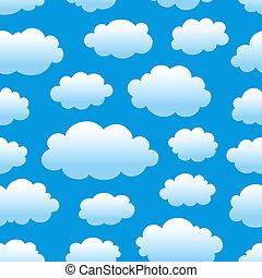 motívum, ég, felhős