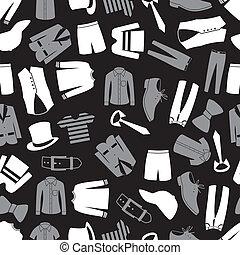 motívum, öltözet, seamless, eps10, mens