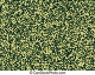 motívum, camuflage, seamless, zöld erdő, fénykép