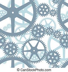 motívum, cogwheels, seamless