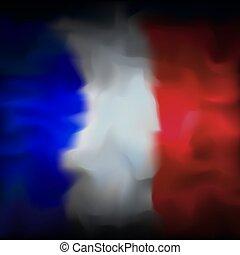 motívum, drawing., háttér, franciaország, elvont, háttér., vízfestmény, lobogó, vektor, grunge, design., transzparens, francia, grafikus, kreatív, template., hazafias, tervezés