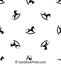motívum, egyensúlyozó, black ló, seamless