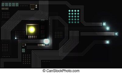 motívum, elvont, vektor, háttér, jövő, technológia