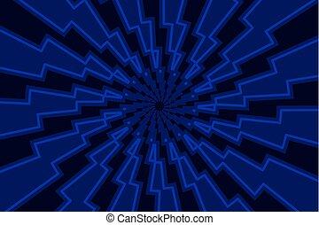motívum, elvont, -, villámlás, vektor, csavar, geometriai