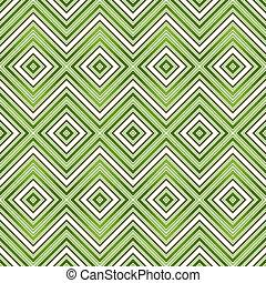 motívum, elvont, zöld, seamless, cikcakkos
