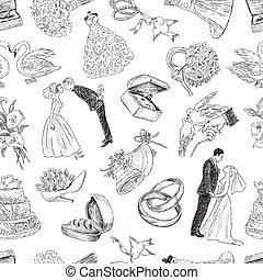 motívum, esküvő, jelkép