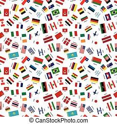 motívum, független, seamless, egyesült államok, zászlók, világ, címek