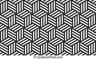 motívum, fehér, fekete, geometriai