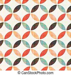 motívum, geometriai, seamless, kör alakú