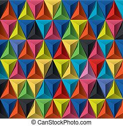 motívum, geometriai, többszínű