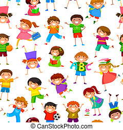 motívum, gyerekek, karikatúra