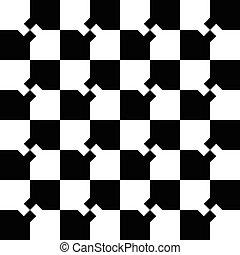 motívum, háttér., monochrom, squares., minimális, tarka, repeatable, elvont, mózesi
