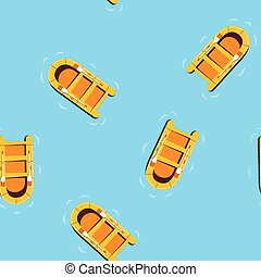 motívum, hajó, óceán, úszó, seamless, ábra, vektor