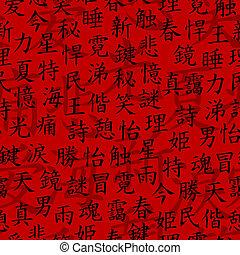motívum, kanji, seamless