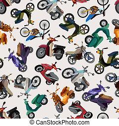 motívum, motorkerékpár, seamless