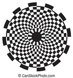 motívum, sakktábla, tervezés, spirál