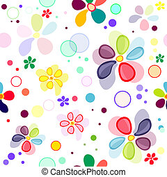 motívum, seamless, élénk, virágos