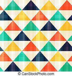 motívum, seamless, háromszög