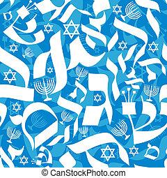 motívum, seamless, héber