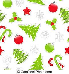 motívum, seamless, karácsony