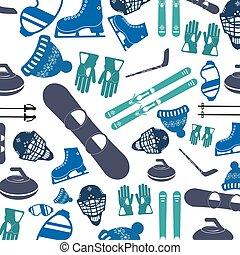 motívum, sport, tél, ikon
