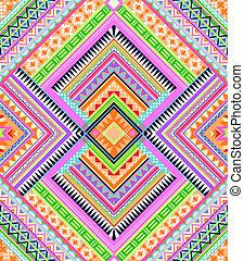 motívum, színes, aztec