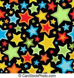 motívum, színes, csillaggal díszít, seamless