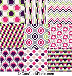 motívum, színes, seamless, geometriai