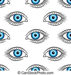 motívum, szem, emberi