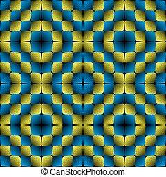 motívum, vektor, illúzió, seamless