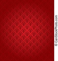 motívum, (wallpaper), seamless, piros