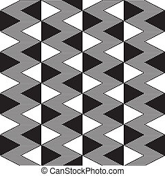 motívum, white triangulum, seamless, fekete