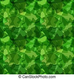 motívum, zöld, seamless, álcáz