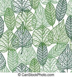 motívum, zöld, zöld, seamless