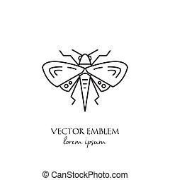moth, elszigetelt, háttér, egyenes, fehér, ikon
