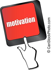 motiváció, számítógép, gombol, vektor, kulcs, billentyűzet