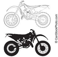 motokrossz, bicikli