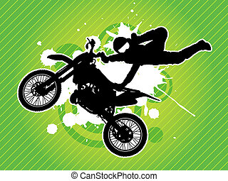 motokrossz, bringás, árnykép