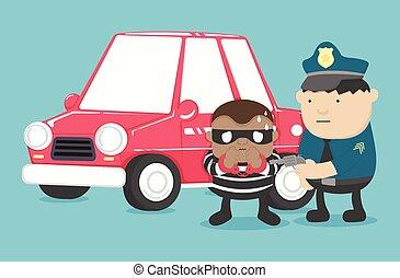 motor, lopás, jármű