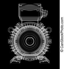 motor, röntgen, mód, elektromos