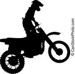 motorcycle., árnykép