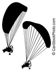 motorizált, paraglider