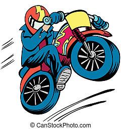 motorkerékpár, ember